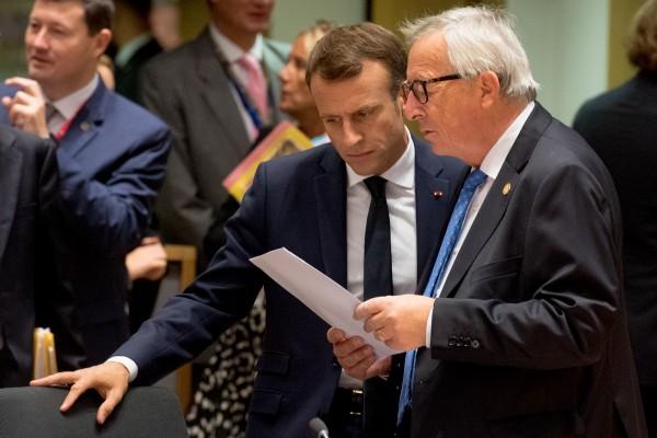 Jean Claude Juncker, Emmanuel Macron