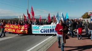 Manifestazione dei lavoratori