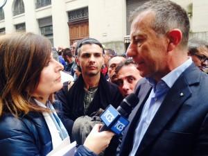 Antonio Spera, segretario generale Ugl Metalmeccanici, intervistato dal Tg3