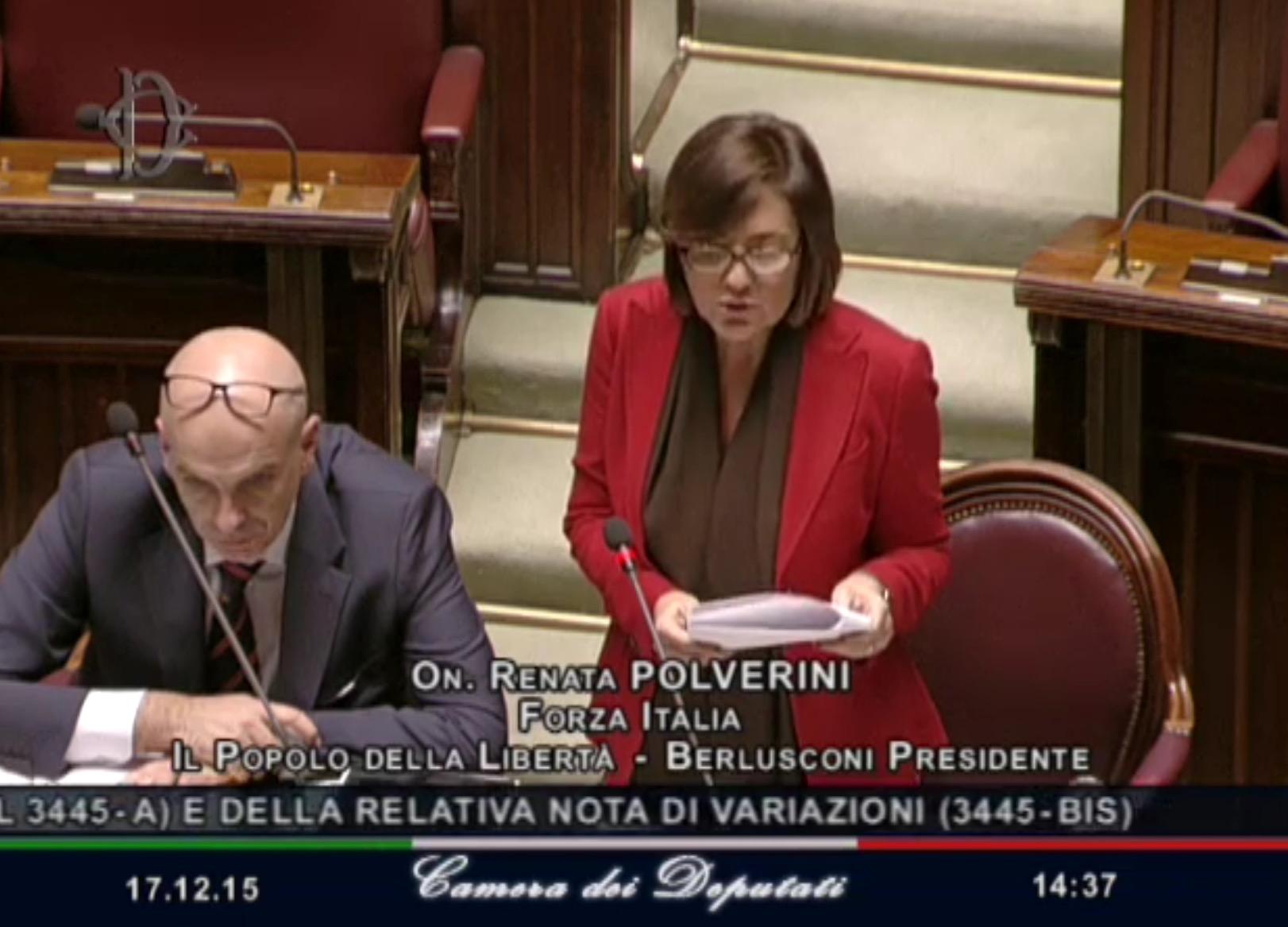 On. Renata Polverini, Vice Presidente della XI Commissione Lavoro Pubblico e Privato e responsabile Dipartimento Nazionale delle politiche del lavoro e sindacali di FI