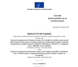 Il Regolamento in discussione al Parlamento europeo