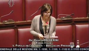 On. Renata Polverini (FI) Vice Presidente Commissione Lavoro della Camera dei Deputati