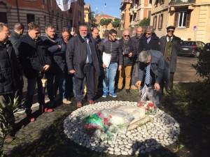 Una delegazione dell'Ugl in piazza Dalmazia per rendere omaggio alle vittime delle foibe