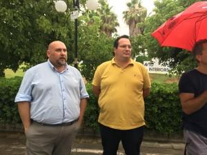 Giuseppe Giaccherini e Claudio Durigon, oggi a confronto con i lavoratori dell'Avioninteriors