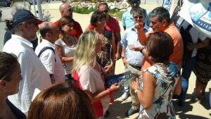 Francesco Paolo Capone, segretario generale dell'Ugl, a confronto con la gente a Balestrate